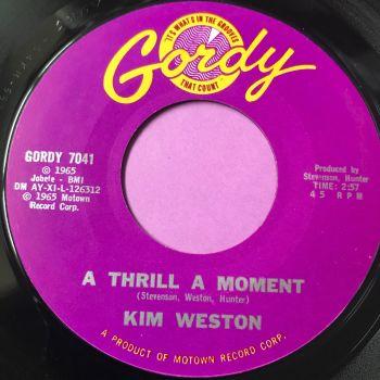 Kim Weston-A thrill a moment-Gordy E+