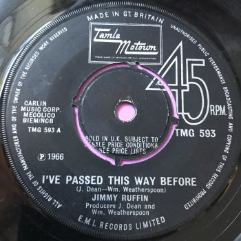 Jimmy Ruffin-I've passed this way before-TMG 593 E+