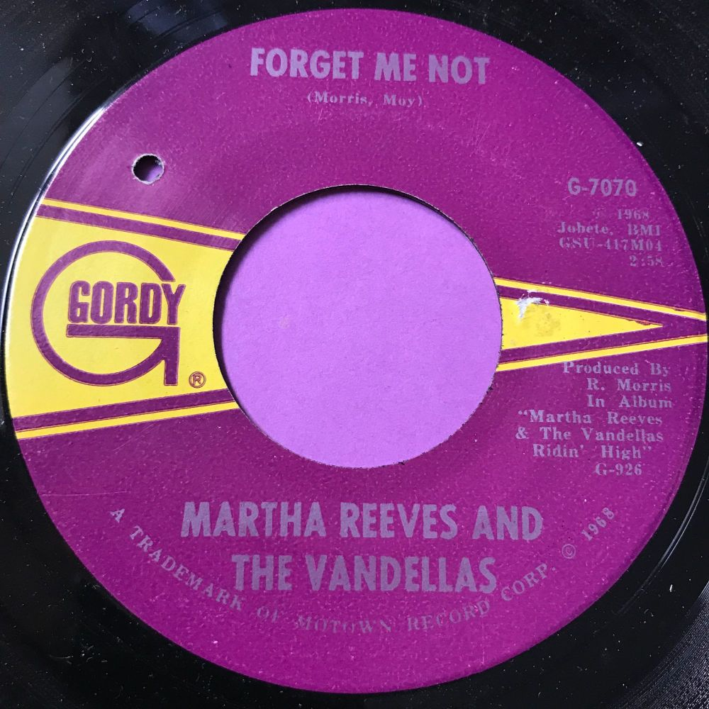 Martha Reeves-Forget me not-Gordy E+