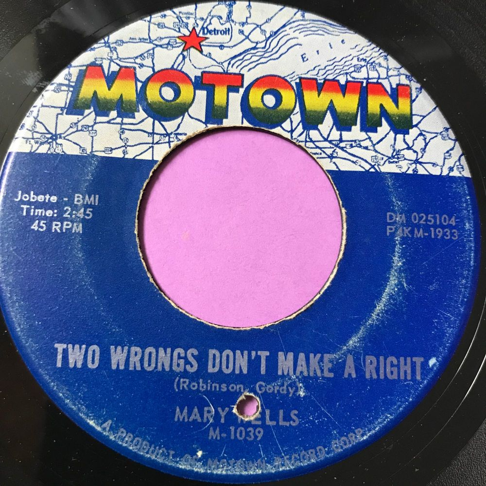 Mary Wells-Two wrongs don't make a right-Motown E+