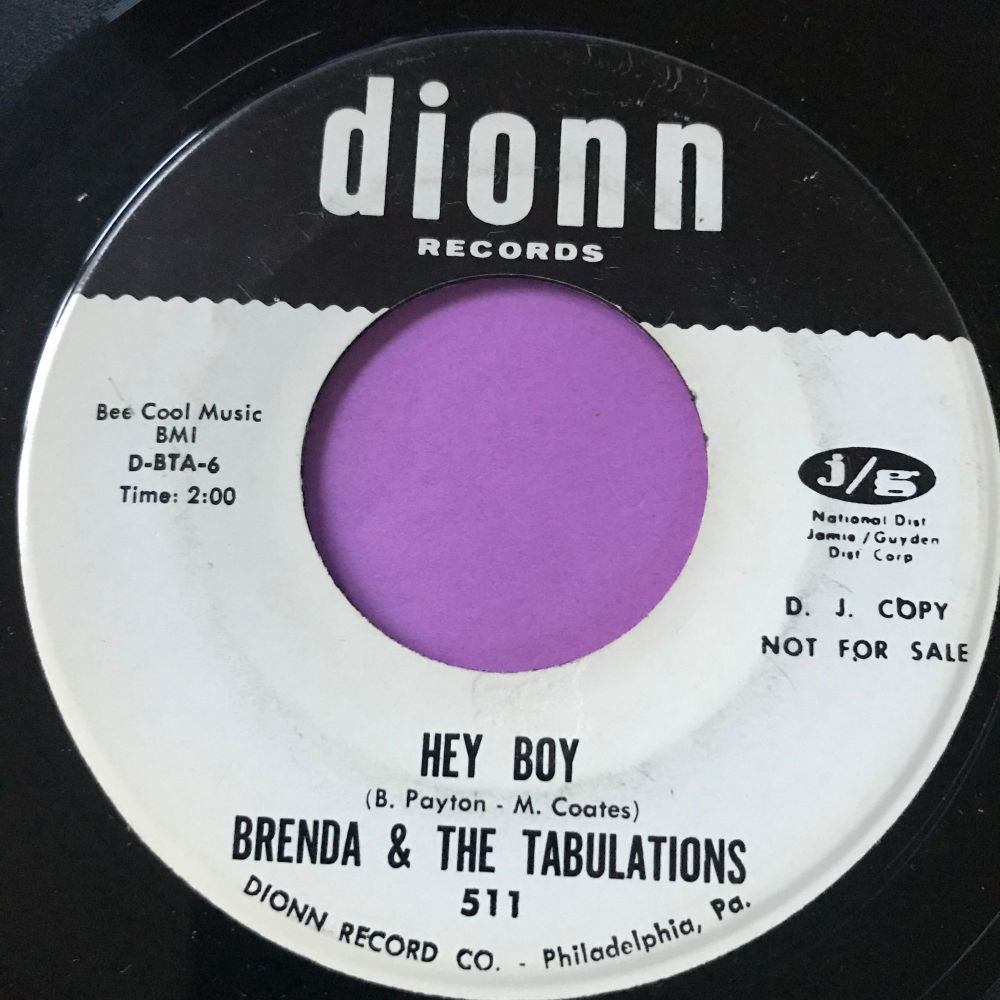 Brenda and the Tabulations-Hey boy-Dionn WD E+