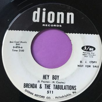 Brenda and the Tabulations-Hey boy-Dionn WD E+