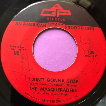 Masqueraders-I ain't gonna stop/ I'm just an average guy-GWP E-