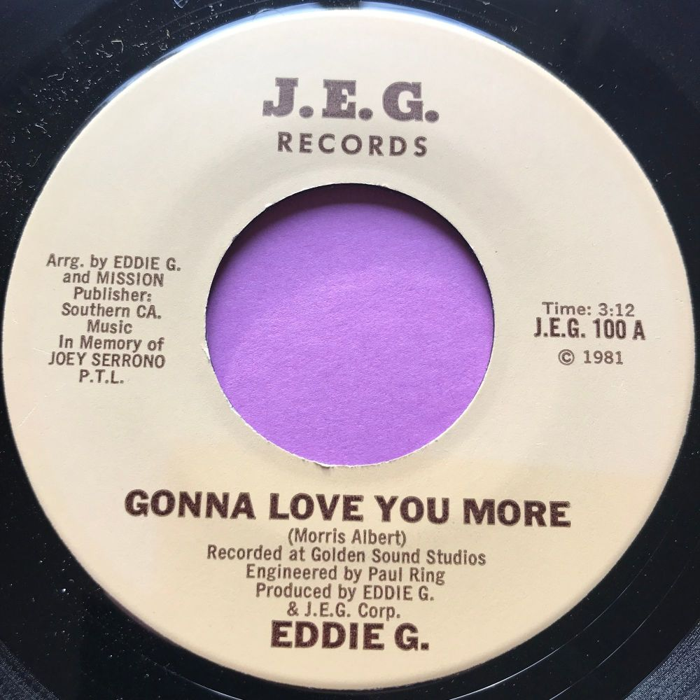 Eddie G.-Gonna love you more-J.E.G E+