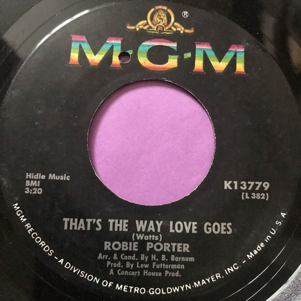 Robbie Porter-That's the way love goes-MGM E