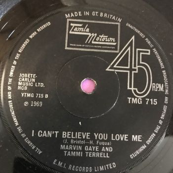 Marvin Gaye and Tammi Terrell-I can't believe you love me-TMG 715 E+