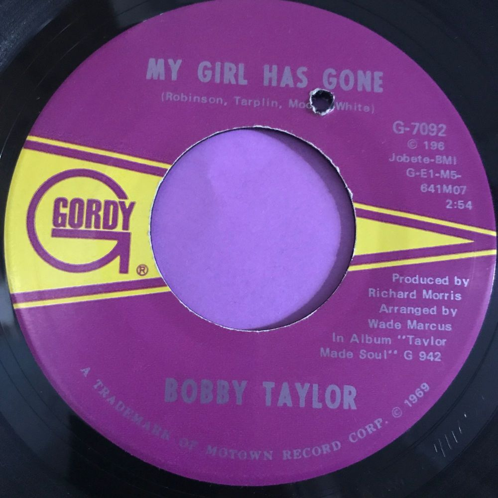 Bobby Taylor-My girl has gone-Gordy E+