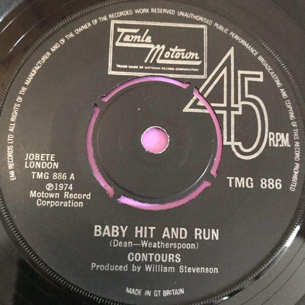 Contours-Baby hit and run-TMG 886 E
