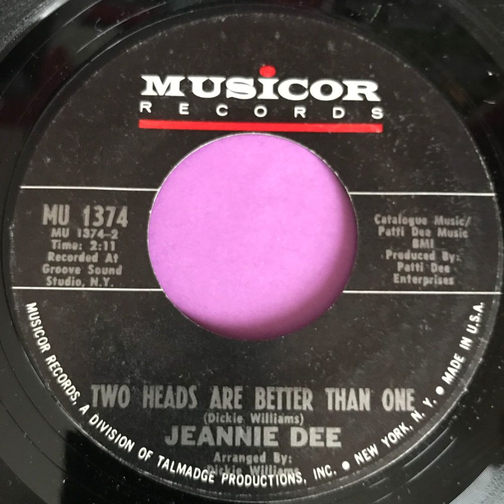 Jeannie Dee-Two heads are better than one-Musicor E+