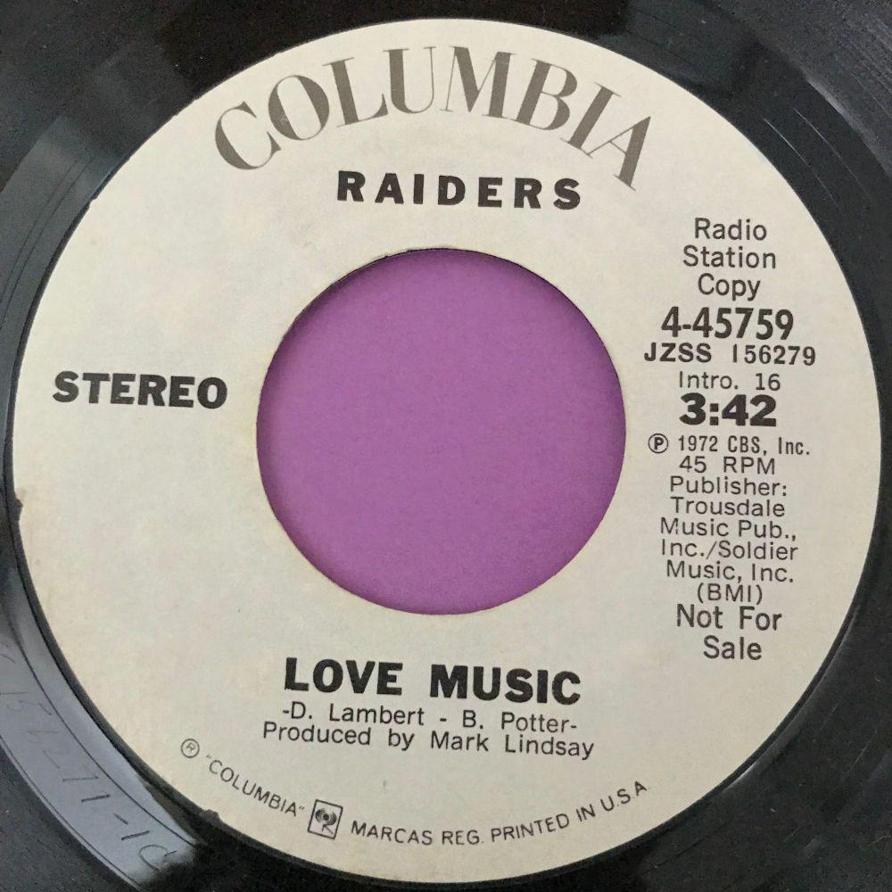 Raiders-Love music-Columbia WD E+