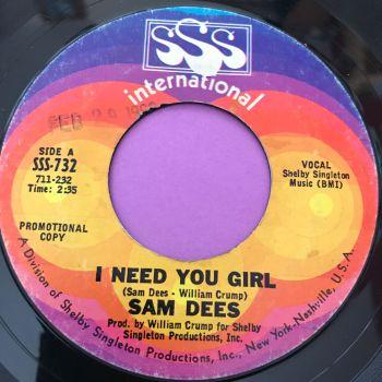 Sam Dees-I need you girl-SSS E