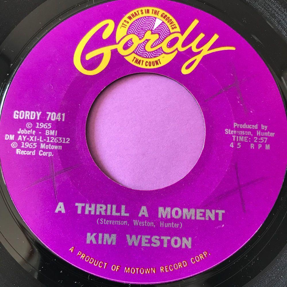 Kim Weston-A Thrill a moment-Gordy X E+