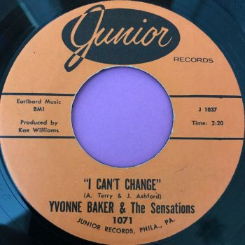 Yvonne Baker-I can't change/Mend the torn pieces-Junior E+