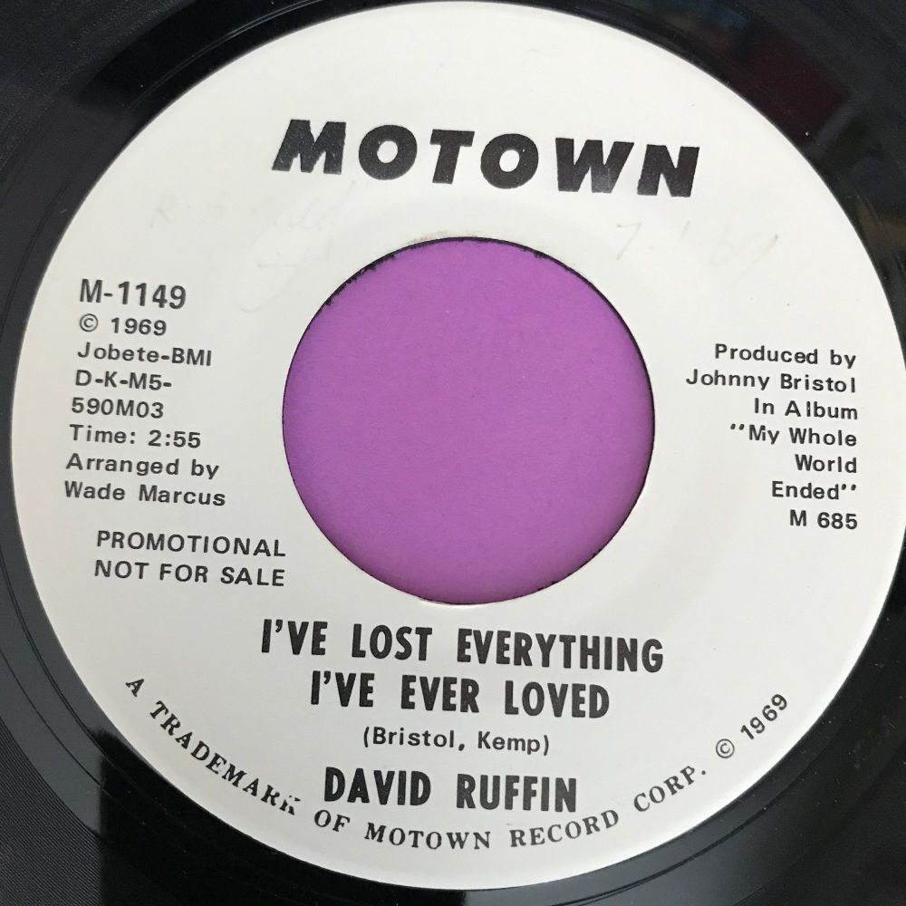 David Ruffin-I've lost everything I've ever loved-Motown WD E+