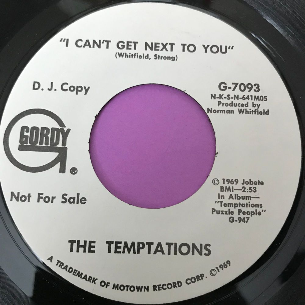 Temptations-I can't get next to you-Gordy WD E+