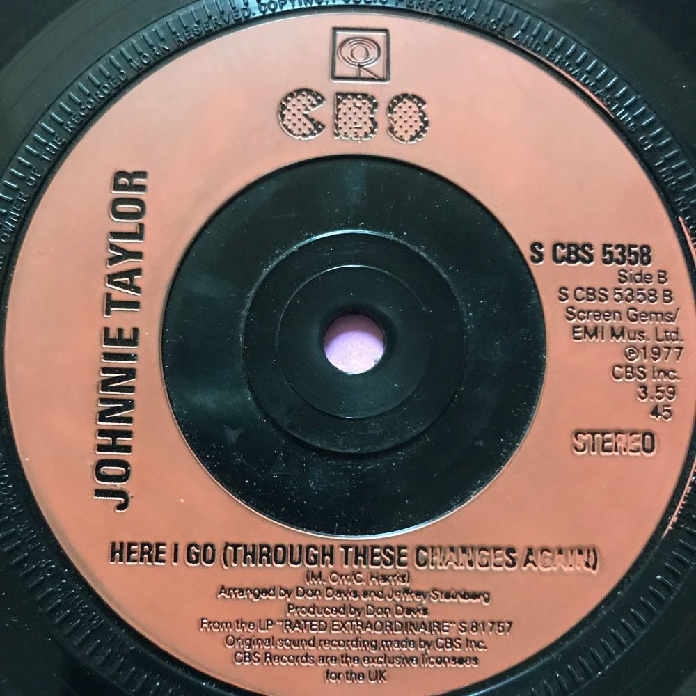 Johnnie Taylor-Here I go-UK CBS E+