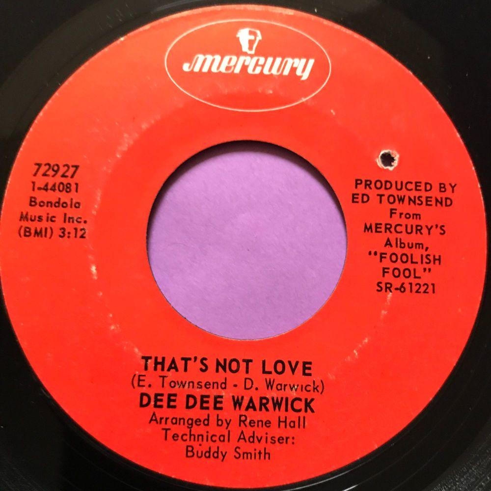 Dee Dee Warwick-That's not love-Mercury E+