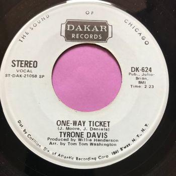 Tyrone Davis-One-way ticket-Dakar Demo E+
