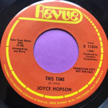 Joyce Hopson-This time/I surrender to you-Revue E+