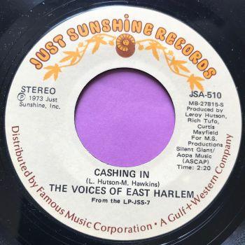 Voices of East Harlem-Cashing in/I like having you around-Just Sunshine E+