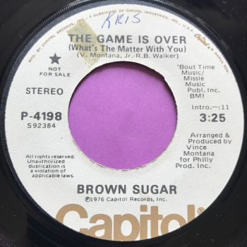 Brown Sugar-The game is over-Capitol WD wol E+