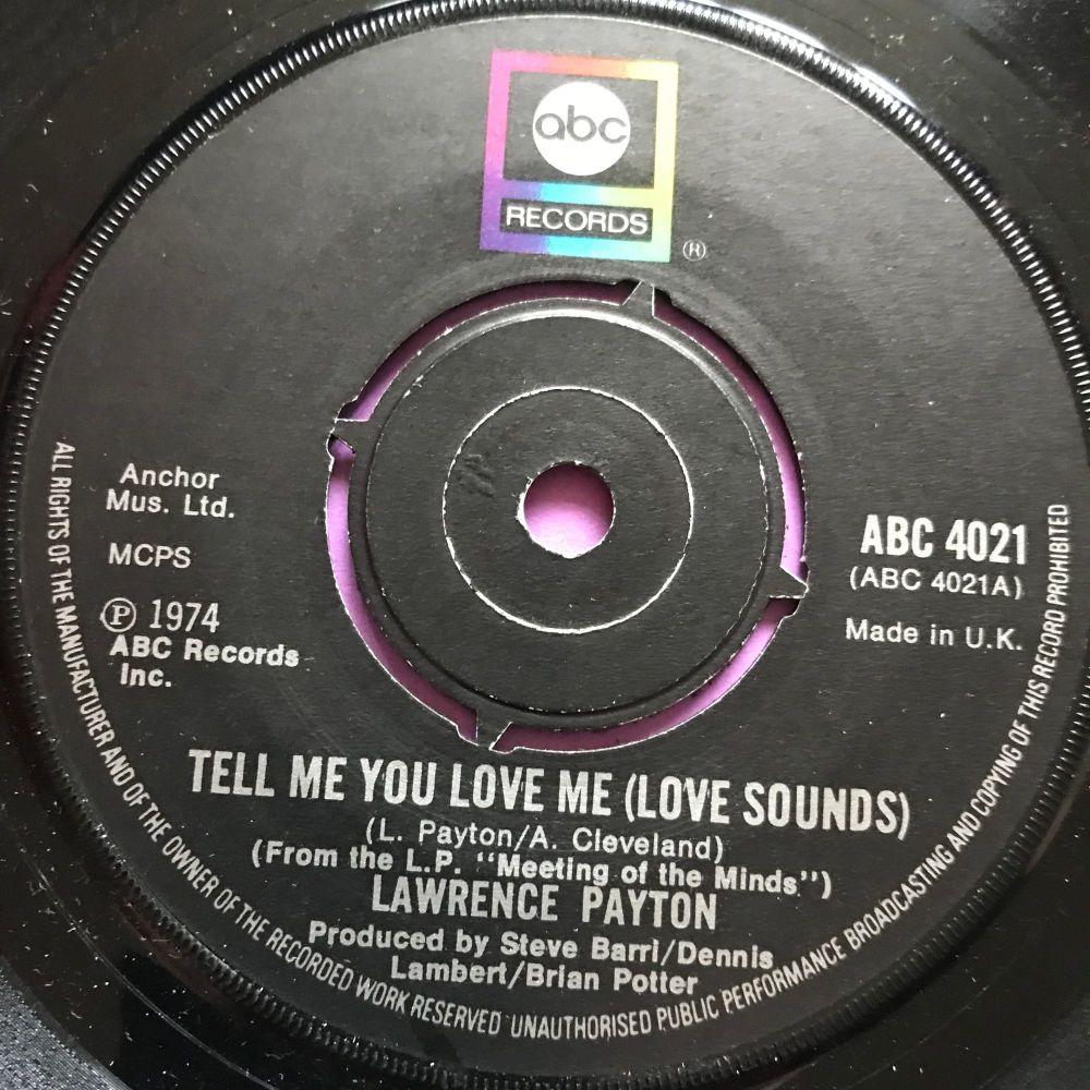 Lawrence Payton-Tell me you love me-UK ABC E+