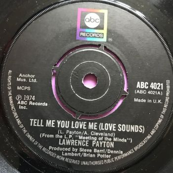 Lawrence Payton-Tell me you love me-UK ABC E+