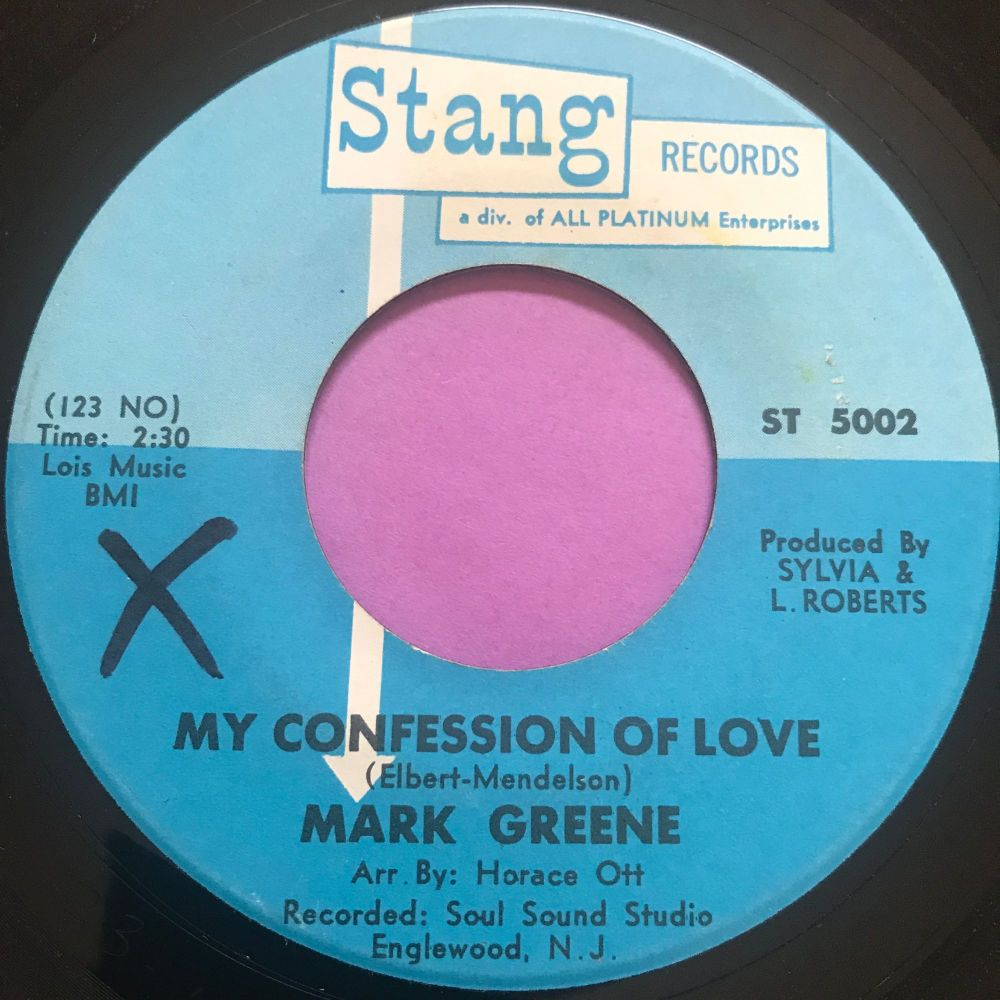 Mark Greene-My confession of love-Stang wol E+