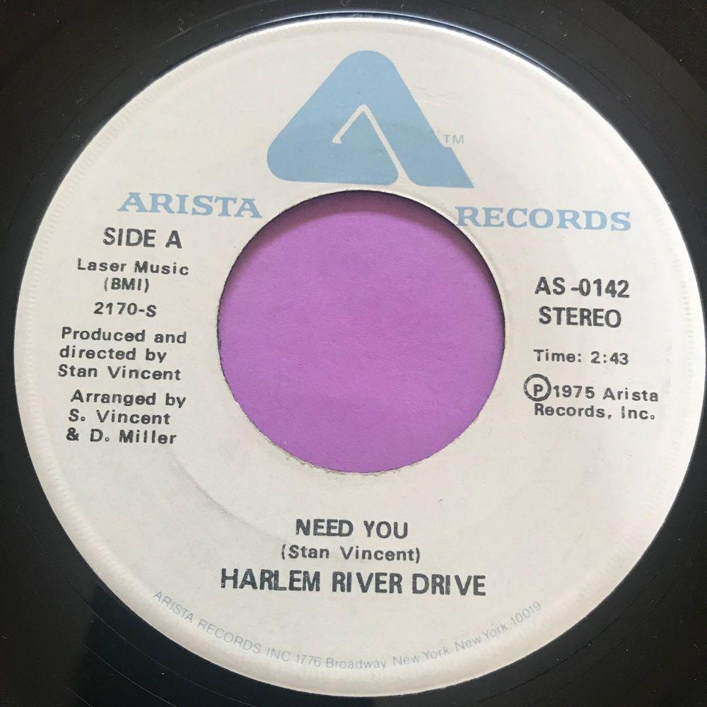 Harlem River Drive-Need you-Arista E+