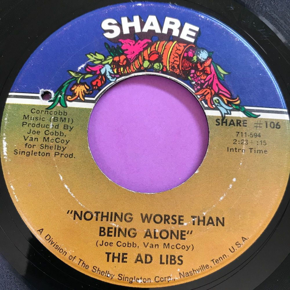 Ad Libs-Nothing worse than being alone-Share E