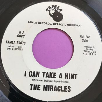 Miracles-I can take a hint-Tamla WD E+