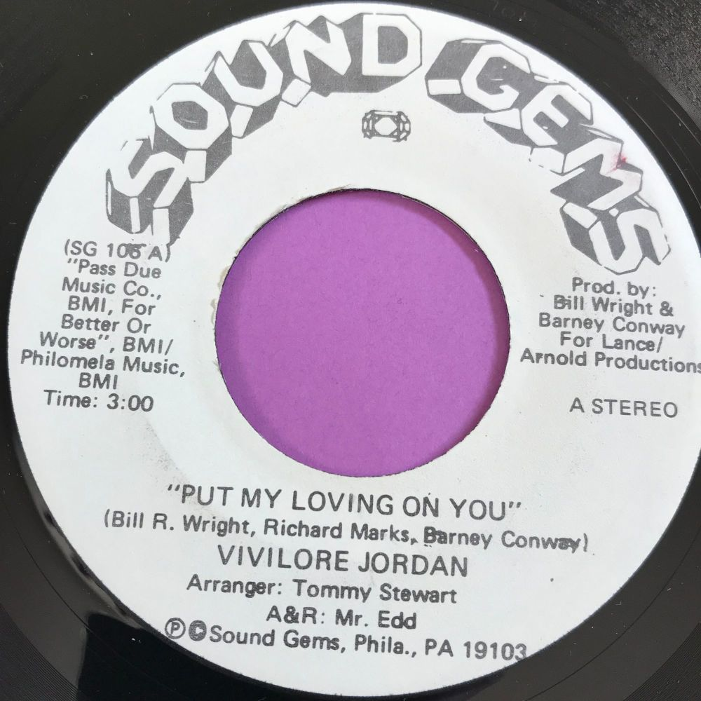 Vivilore Jordan-Put my loving on you-Sound Gems WD E+