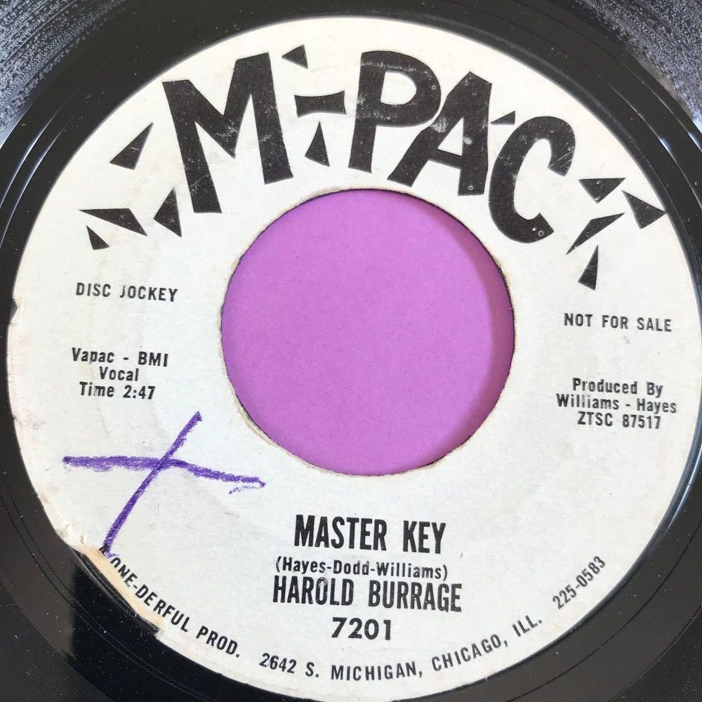 Harold Burrage-Master key-M-Pac WD wol E