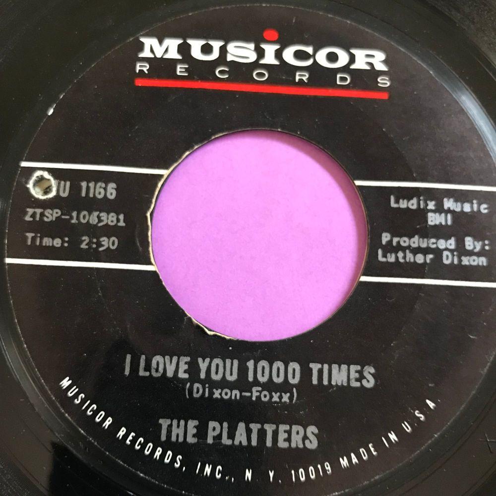 Platters-I love you 1000 times-Musicor E+