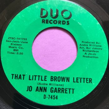 Jo Ann Garrett-That little brown letter-Duo E+