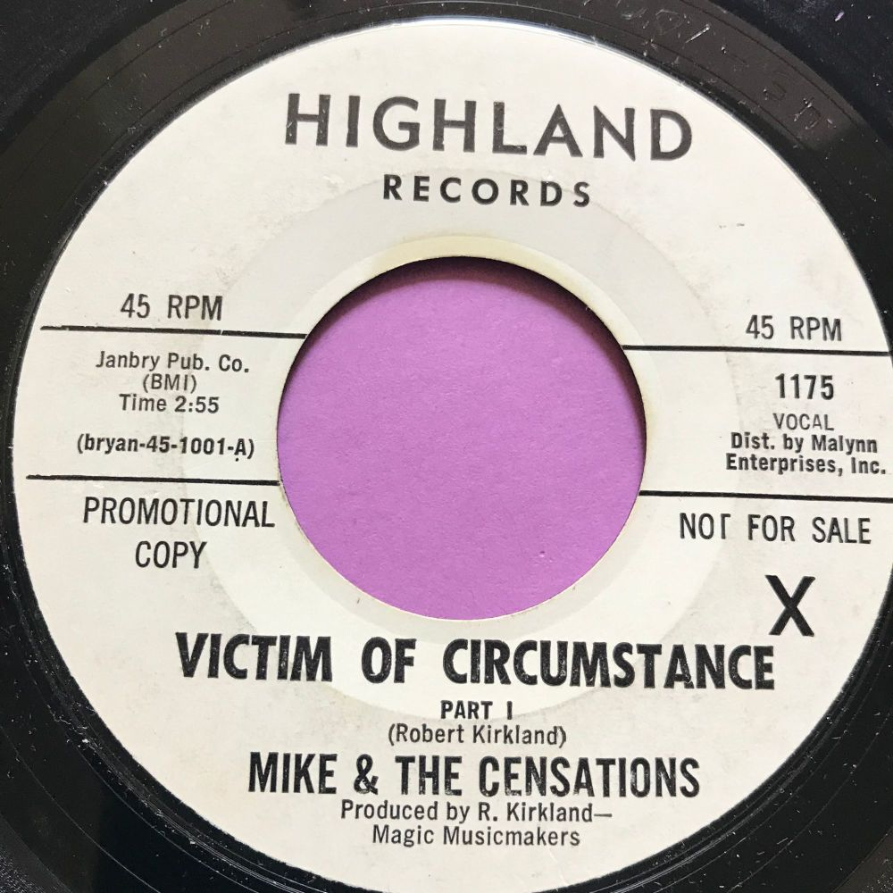 Mike & The Censations-Victim of circumstance-Highland WD E+