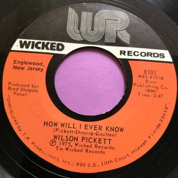 Wilson Pickett-How will I ever know-Wicked M-