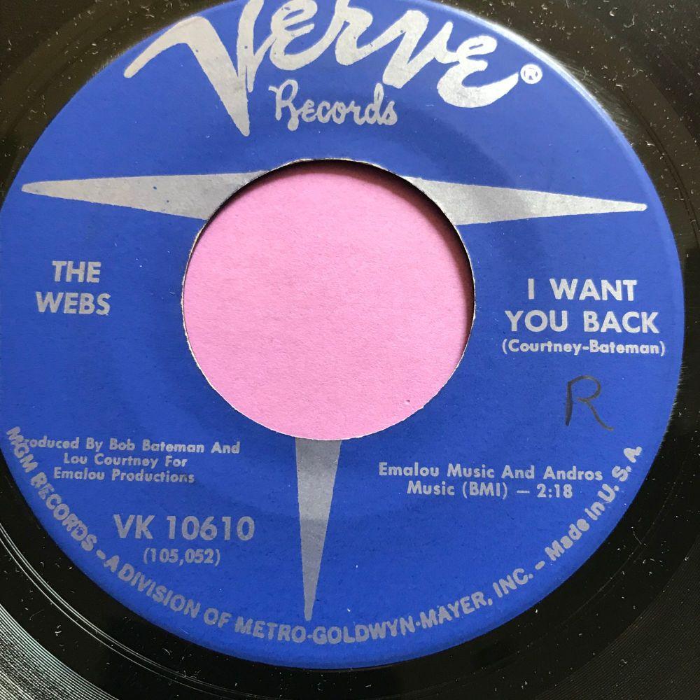 Webbs-I want you back/We belong together-Verve wol E+