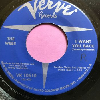 Webbs-I want you back/We belong together-Verve wol E+