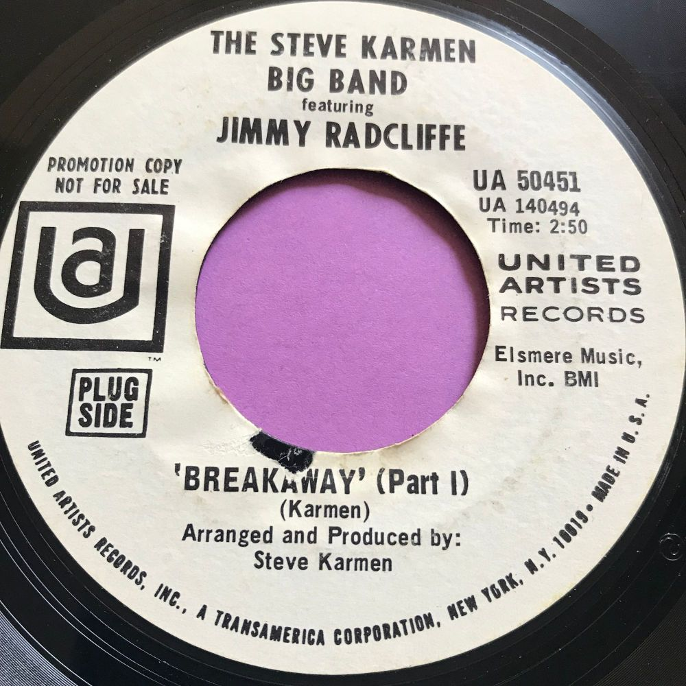 Steve Karmen Big Band & Jimmy Radcliffe-Breakaway-UA WD E