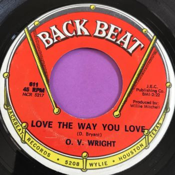 O.V Wright-Love the way you love-BackBeat E