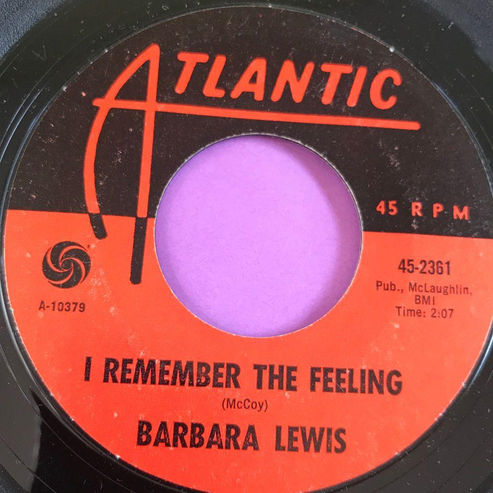 Barbara Lewis-I remember the feeling-Atlantic E+