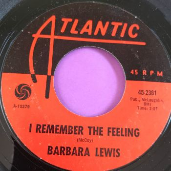 Barbara Lewis-I remember the feeling-Atlantic E+