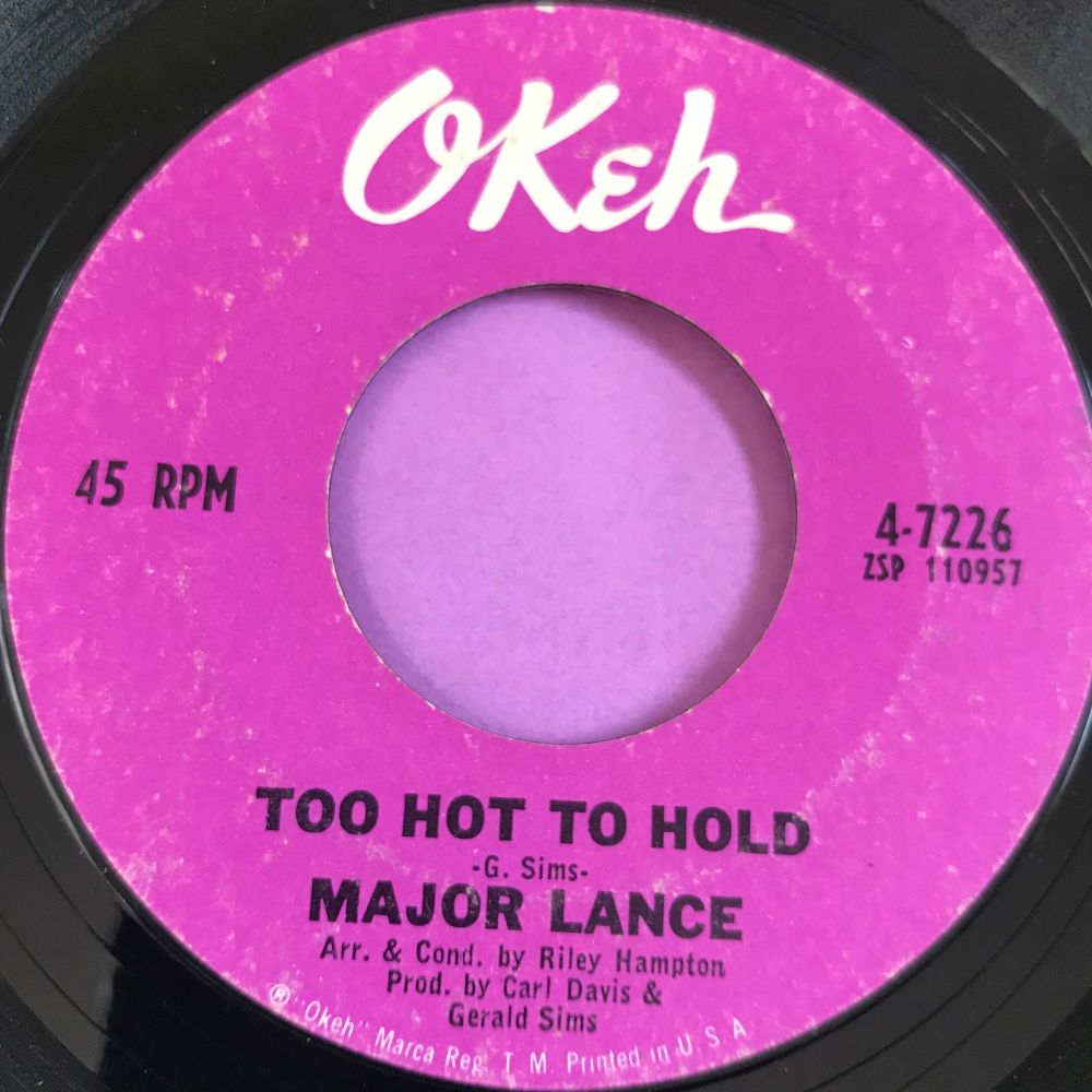 Major Lance-Too hot to hold-Okeh E