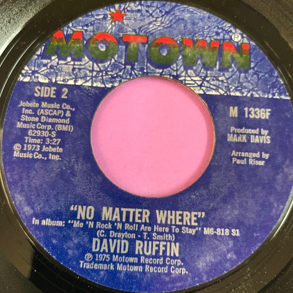 David Ruffin-No matter where-Motown E+