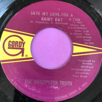Undisputed Truth-Save my love for a rainy day-Gordy M-