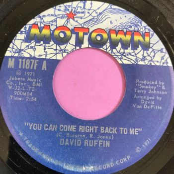 David Ruffin-You can come right on back to me-Motown E+