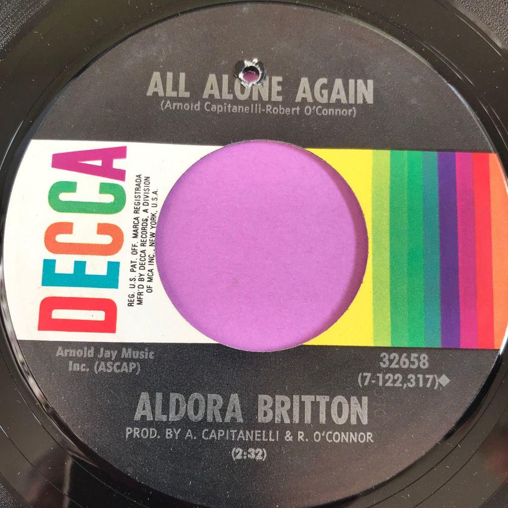 Aldora Britton-All alone again-Decca M-