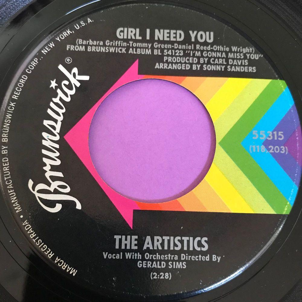 Artistics-Girl I need you-Brunswick E-