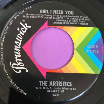 Artistics-Girl I need you-Brunswick E+